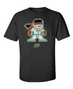 Minecraft Street Fighter Mens T-Shirt Black