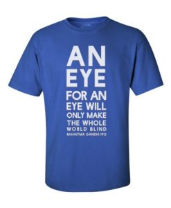 Mahatma Gandhi Quote T-Shirt Royal Blue