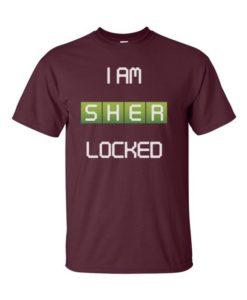 SherLock'd T-Shirt Maroon