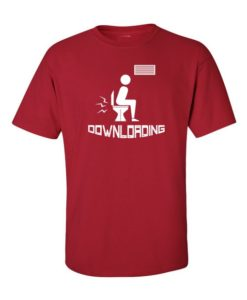 Down'loading' T-Shirt Cherry Red