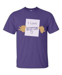 I Love Zeppelin T-Shirt Purple