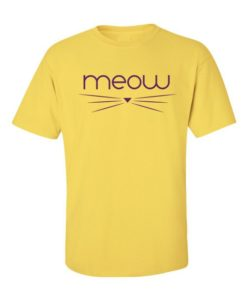 Meow T-Shirt Yellow
