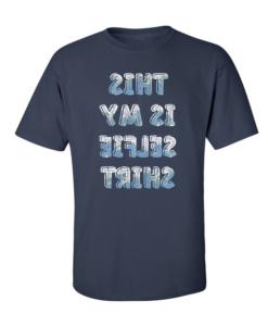 Funky Selfie Shirt Navy Blue