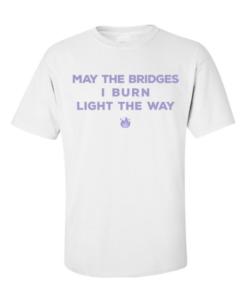 burn bridges white