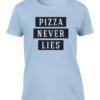 pizza lies light blue