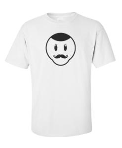 moustache face white