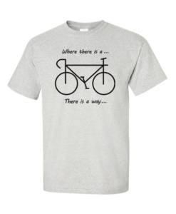 Cycling all the way gray